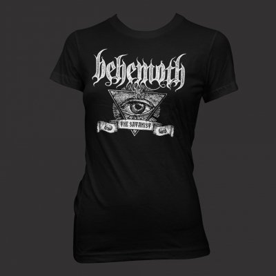 Satanist Banner | Girl Fitted T-Shirt