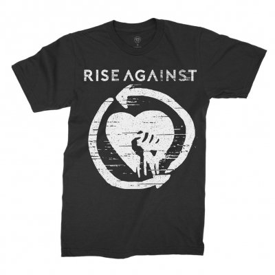 rise-against - Distressed Heartfist | T-Shirt