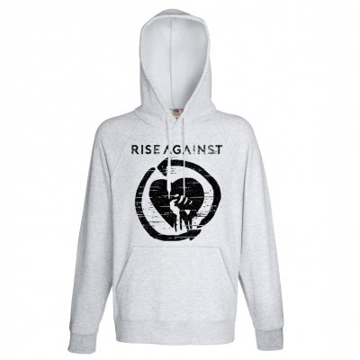 rise-against - Distressed Heartfist | Hoodie