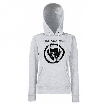 Rise Against - Distressed Heartfist | Girl Hoodie