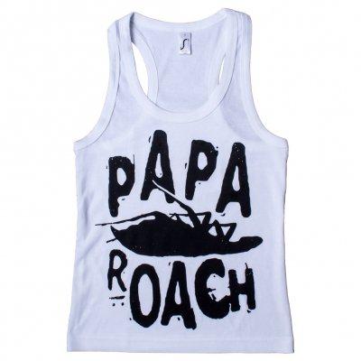 papa-roach - Classic Logo White | Racerback Girl Tank