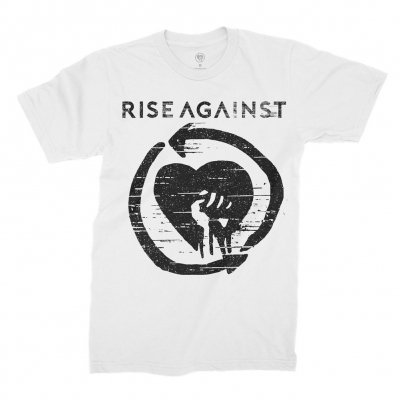 Rise Against - Distressed Heartfist White | T-Shirt