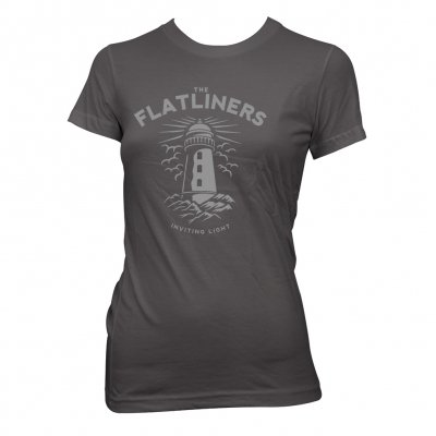 the-flatliners - Lighthouse Charcoal | Girl Fitted T-Shirt