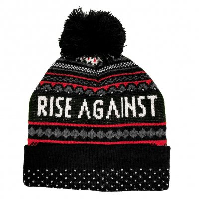 Rise Against - Winter Logo | Knitted Pom Pom Beanie