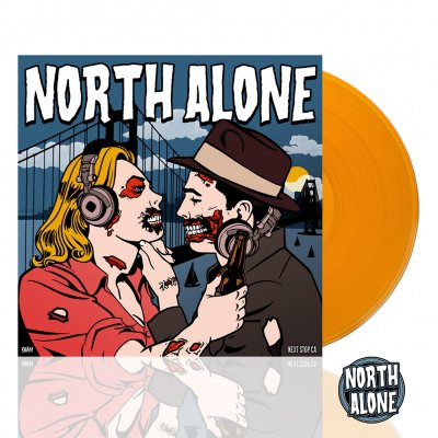 North Alone - Next Stop CA | Orange Vinyl+Enamel Pin