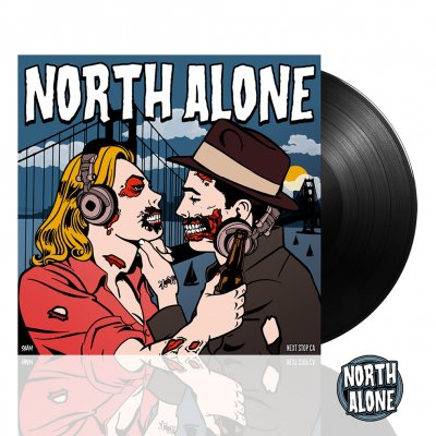 North Alone - Next Stop CA | Black Vinyl+Enamel Pin