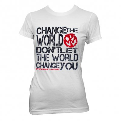 Pennywise change the world fitted girl t shirt