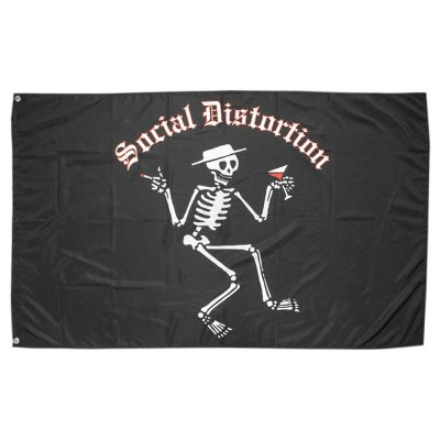 social-distortion - Classic Skelly Logo | Flag