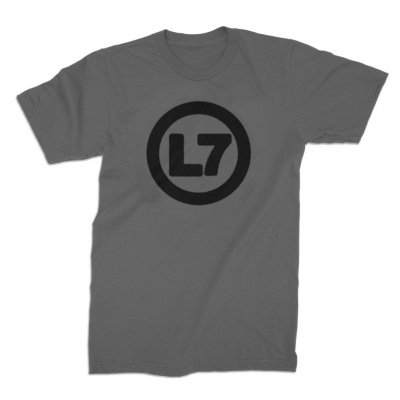 L7 - Spray Logo Charcoal | T-Shirt