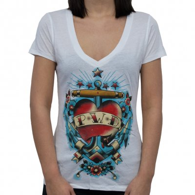 parkway-drive - Anchor-Heart | V-Neck Girlie