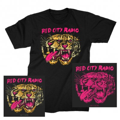 Red City Radio - Sky Tiger | CD + T-Shirt + Print Bundle