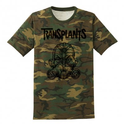 transplants - Gas Mask Camo | T-Shirt