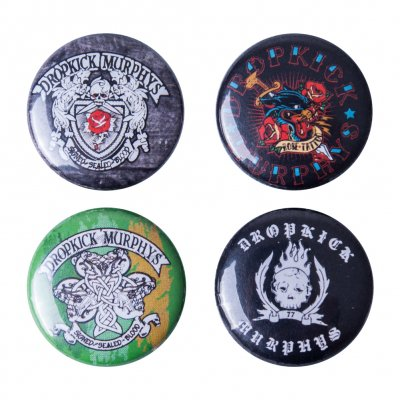 dropkick-murphys - 4 Buttons | Button Set