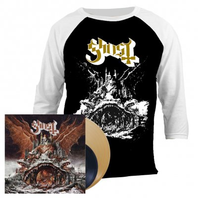 Ghost - Prequelle | Gold Vinyl + 7 Inch + Raglan Bundle