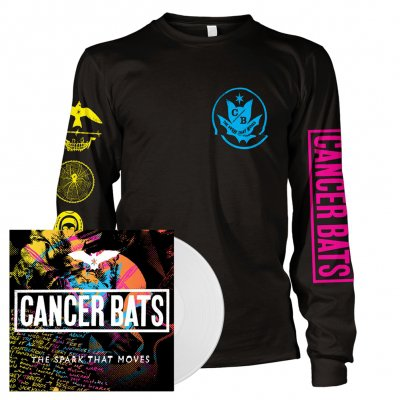 cancer-bats - The Spark That Moves | White Vinyl + Longsleeve Bundle