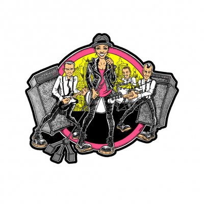 The Interrupters - Cartoon Band | Enamel Pin