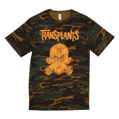 transplants - Gas Mask Camo | T-Shirt