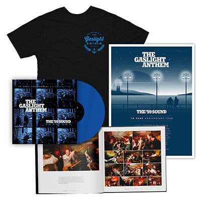 The Gaslight Anthem - The '59 Sound Sessions | DLX Blue LP + T-Shirt + Poster Bundle
