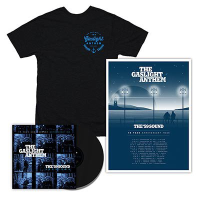 The Gaslight Anthem - The '59 Sound Sessions | Black LP + T-Shirt + Poster Bundle