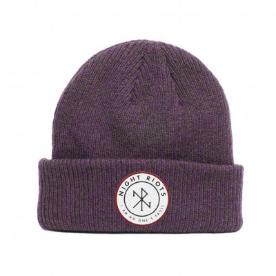 Night Riots - Symbol Plum | Beanie