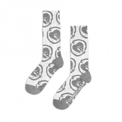Rise Against - Distressed Pattern White | Socks