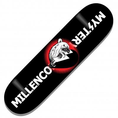 Millencolin - Mystery Polar Heart Black | Skatedeck