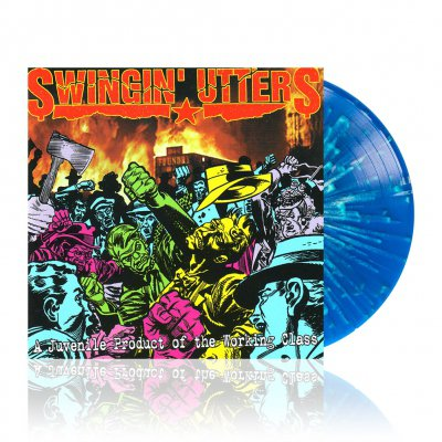 swingin-utters - A Juvenile ... | Blue w/White Splatter Vinyl