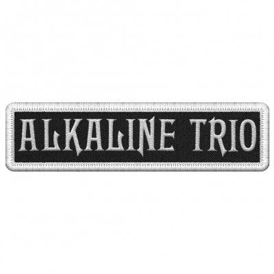 alkaline-trio - White Logo | Patch