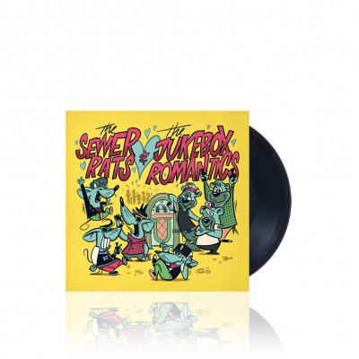 The Sewer Rats/The Jukebox Romantics - Split | Black 7 Inch