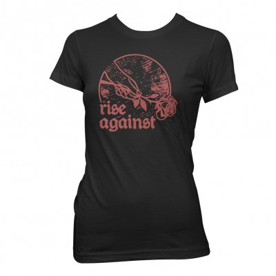 Rise Against - Rose | Girl Fitted T-Shirt