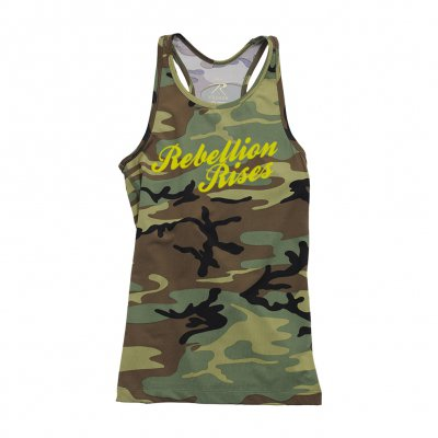 Rebellion Rises Camo | Girl Tank Top Racerback