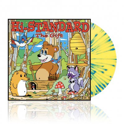 fat-wreck-chords - The Gift | Yellow w/ Cyan Splatter Vinyl