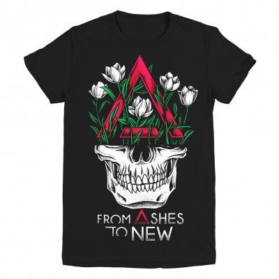 From Ashes To New - Face | Girl Fitted T-Shirt