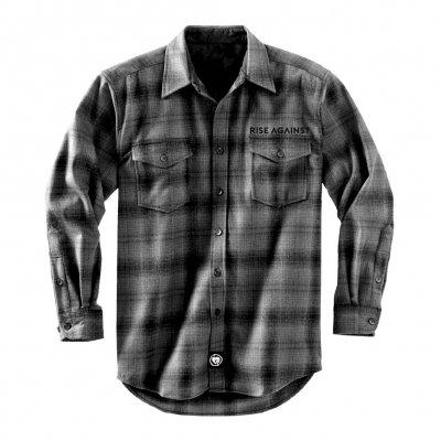 rise-against - Logo Grey | Flannel