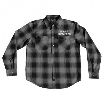 Social Distortion - Logo Gray Plaid | Flannel