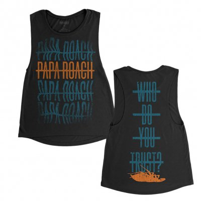 papa-roach - WDYT Warped Repeater | Girl FItted Tank Top