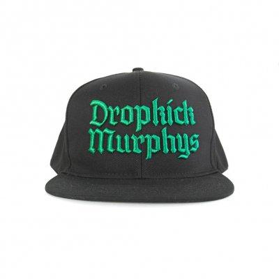 dropkick-murphys - 3D Gothic Logo Green | Snapback Cap