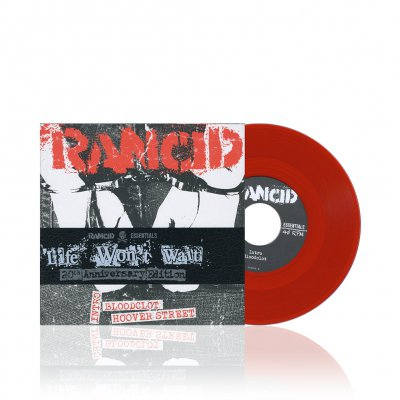 rancid - Life Won't Wait | Blood Red 7 Inch Album Pack
