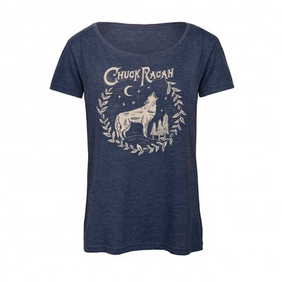 Chuck Ragan - Coyote | Girl Fitted T-Shirt