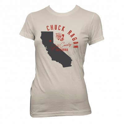 chuck-ragan - California | Girl Fitted T-Shirt