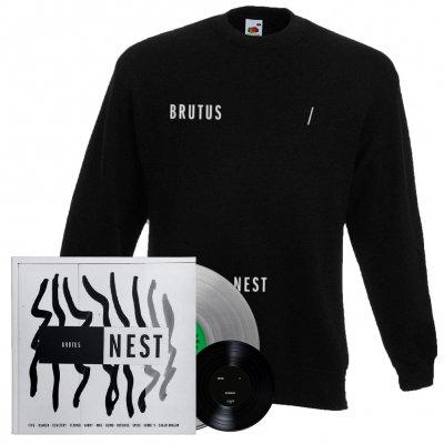 Brutus - Nest | Clear Vinyl + 7 Inch + Sweatshirt