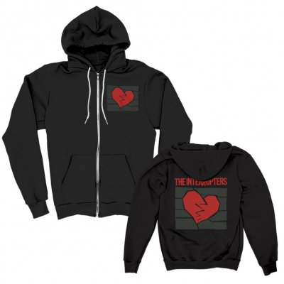 shop - Broken Heart Black | Zip-Hood
