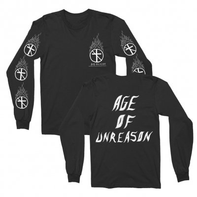 Flaming Cross Black | Longsleeve