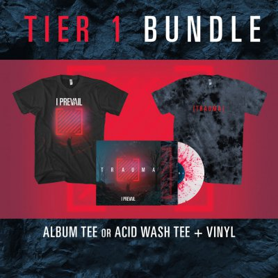 I Prevail - Trauma | Splatter Vinyl + T-Shirt Bundle