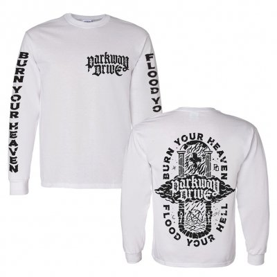 shop - Burn Your Heaven White | Longsleeve