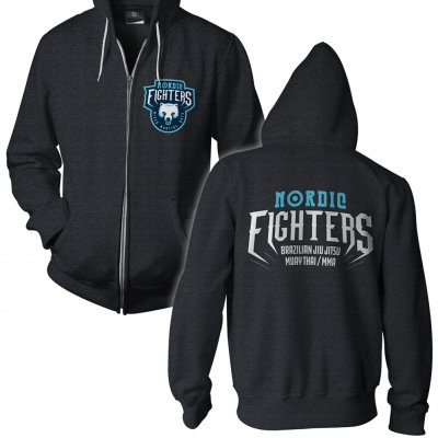 vclothing - Nordic Fighters Black | Zip-Hood