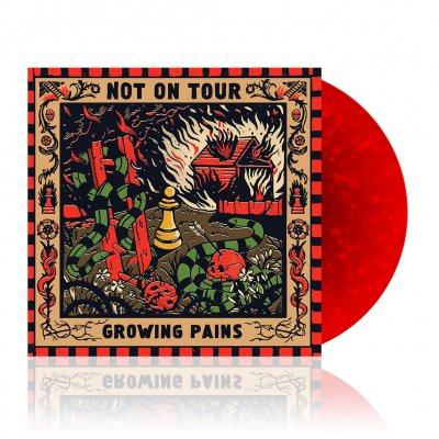 shop - Growing Pains | Red/Orange Swirl Vinyl
