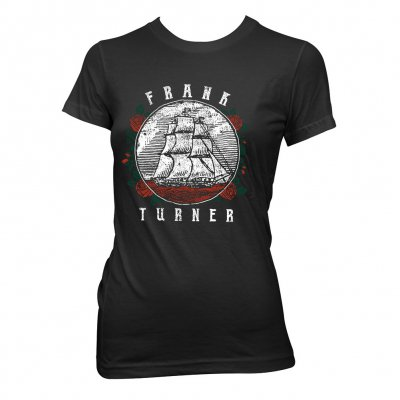 frank-turner - Ship Rose | Fitted Girl T-Shirt