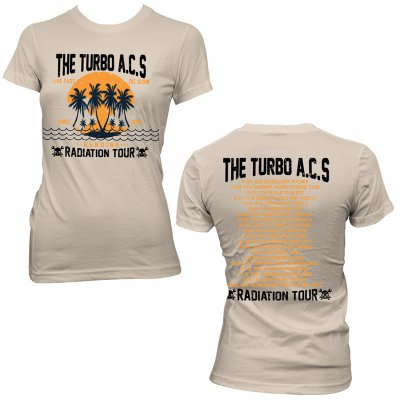 The Turbo A.C.'s - Rad Tour | Girl Fitted T-Shirt