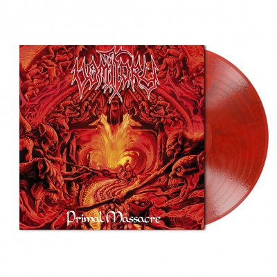 Vomitory - Primal Massacre | Red Black Marbled Vinyl